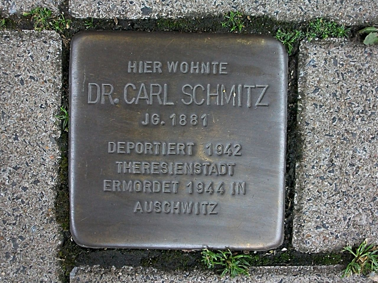 Stolperstein für Carl Schmitz