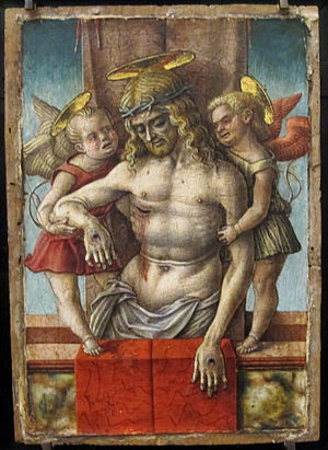 The Dead Christ Supported by Two Angels
