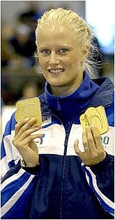 Carolina Klüft Swedish heptathlete and long jumper (born 1983)