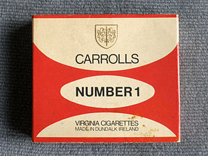 Carroll's - A packet of 20 Carrolls Number 1.