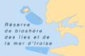 Carte Réserve biosphère îles et mer Iroise.png