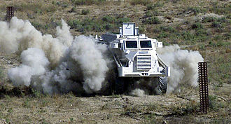 Casspir - A Casspir de-mining at the Bagram Air Base