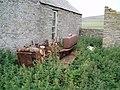 Caterpillar by old schoolhouse, Gairsay - geograph.org.uk - 374134.jpg
