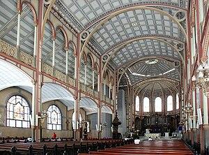 St. Louis Cathedral, Fort-de-France - Image: Cathédrale de Fort de France Intérieur