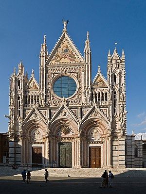 English: Facade of the Cathedral of Siena, cur...