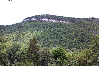 Smoke Hole Canyon - The Cave Mountain Anticline exposed as a cliff-face in Cave Mountain Gap