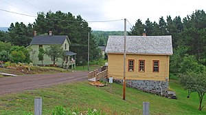 National Register of Historic Places listings in Keweenaw County, Michigan - Image: Central Mine Historic District MI 2009