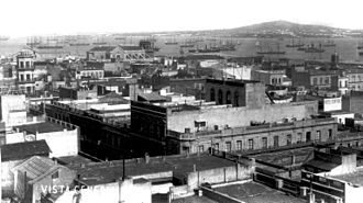 Montevideo - Cerro de Montevideo as seen from the city, in 1865.