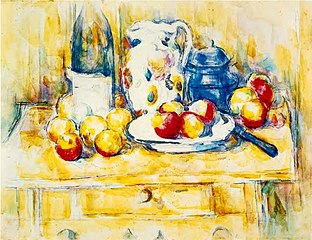 Still Life with Apples, a Bottle and a Milk Pot.