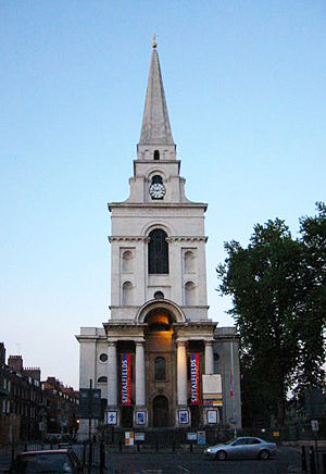 Christ Church Spitalfields. Photograph taken b...