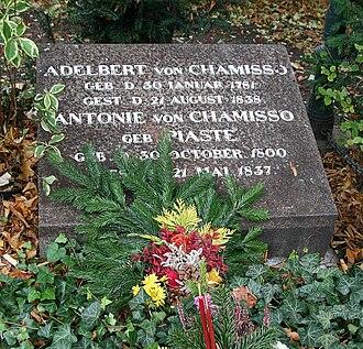 Adelbert von Chamisso - Chamisso's tomb in Berlin