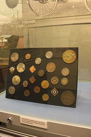 Charles Rolls - Driving medals won by Rolls, at Monmouth Museum