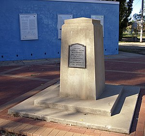 Murrumbidgee River - Charles Sturt Monument located at Wagga Beach in Wagga Wagga