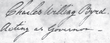 signature de Charles Willing Byrd