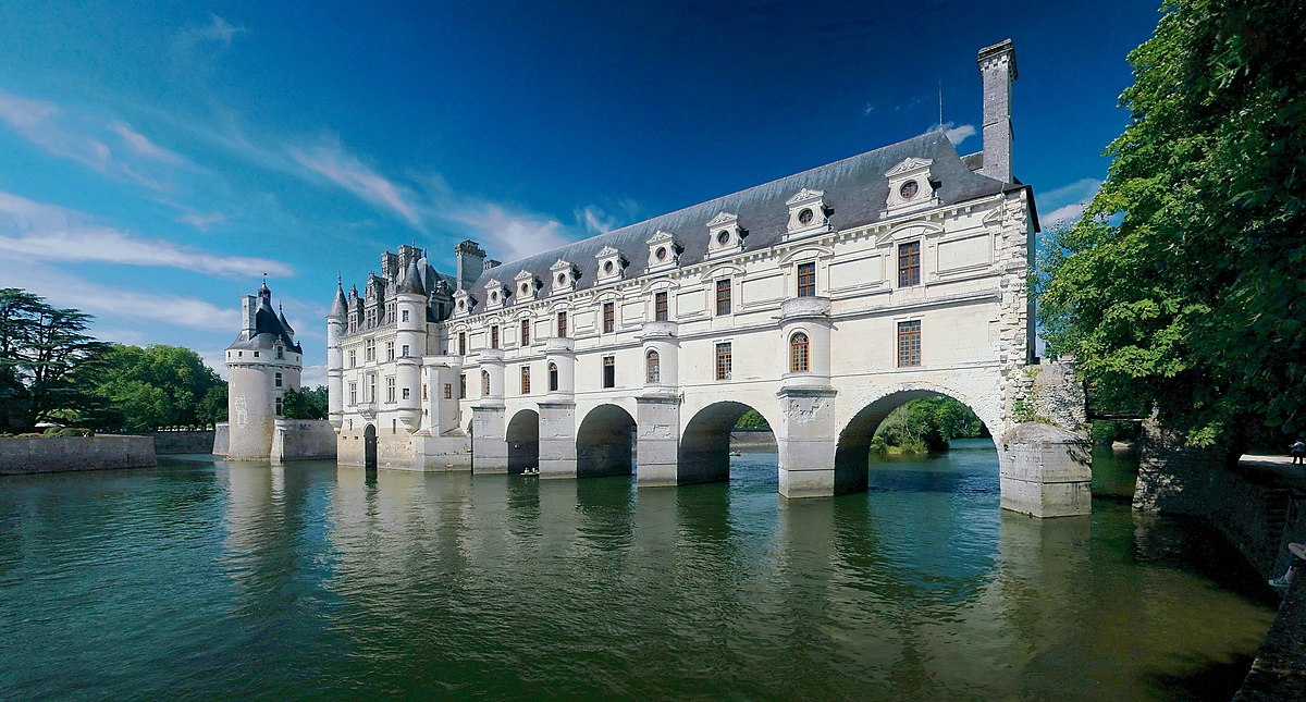 French Chateau Over Water