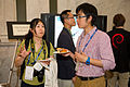Chatting at Wikimania 2012.jpg