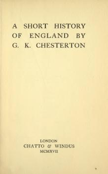 Chesterton - A Short History of England.djvu