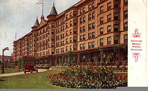 Chicago Beach Hotel - Chicago Beach Hotel Postcard (1911)