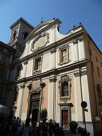 San Dalmazzo, Turin - Front of the church