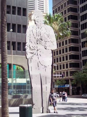 Phillip Street, Sydney - Ben Chifley statue in Chifley Place