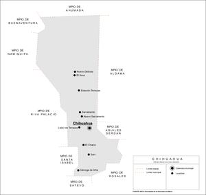 Chihuahua Municipality - Principal locations in Chihuahua Municipality.