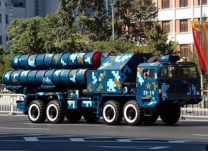 HQ-9 - An HQ-9 portable launcher during China's 60th anniversary parade in 2009.