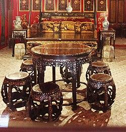 metal furniture style Asian