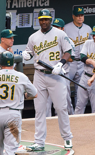 Chris Carter (right-handed hitter) - Carter with the Athletics in 2012