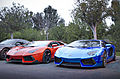 Chrome Blue and Orange Lamborghini Aventador (11658426776).jpg