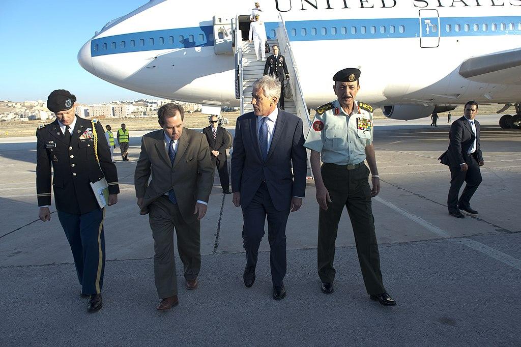 Secretary of defense chuck hagel meets with defense counterparts in