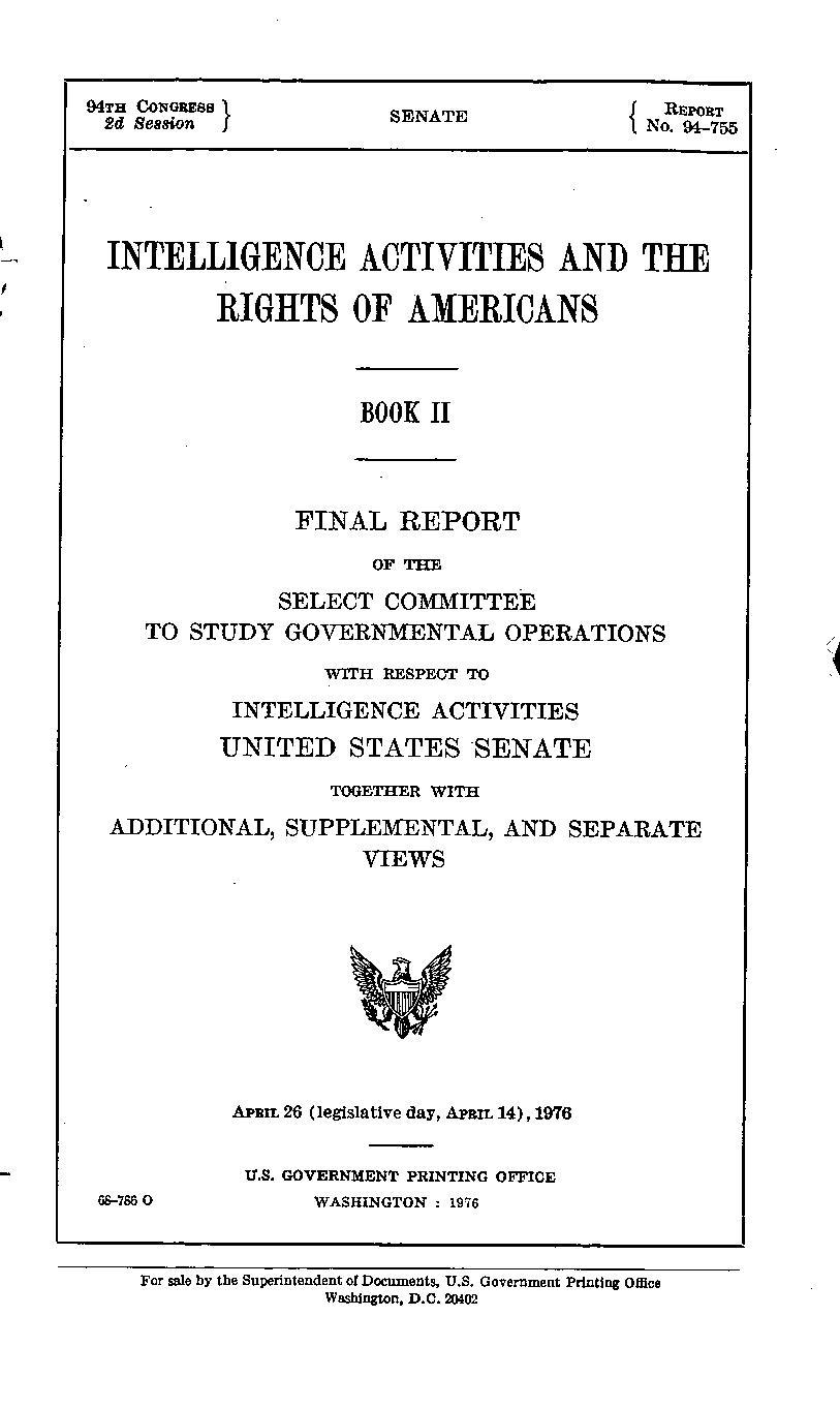 Church Committee report (Book II).pdf