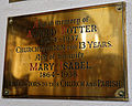 Church of St Mary Hatfield Broad Oak Essex England - Alfred & Mary Isabel Potter brass plaque.jpg