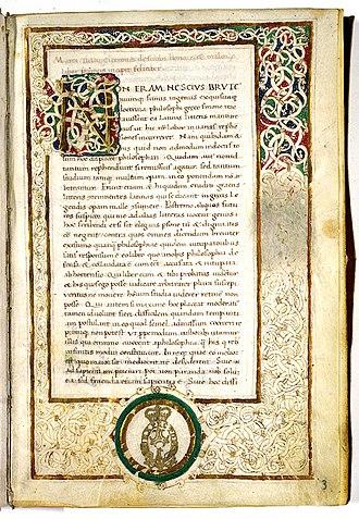 Lucius Manlius Torquatus (Praetor 49 BC) - De finibus bonorum et malorum