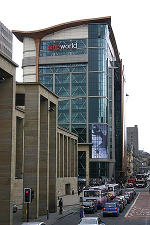 Cineworld - Cineworld in Glasgow, Scotland. The world's tallest cinema