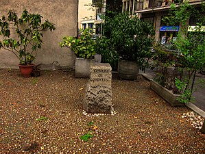 Oratorio di San Protaso - The 18th-century boundary stone placed in front of the Oratorio in 2008.