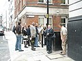 City tour pauses at western end of Bream Buildings - geograph.org.uk - 885636.jpg