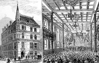 London Metropolitan University - City of London College's new building at Moorfields in 1883 opened by the then Prince of Wales