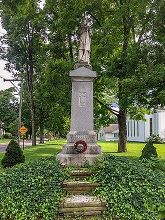 Moravia (village), New York - Civil War memorial in Moravia