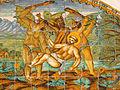 Claustre de Sant Francesc, plafó ceràmic (Terrassa).jpg