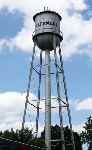Clermont, Indiana - The old water tower.