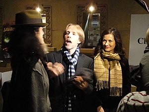 Catherine Taber - Taber (right) with Nika Futterman and James Arnold Taylor