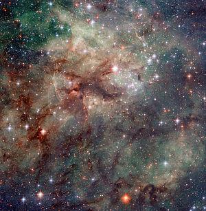 Tarantula Nebula - Image: Close up Tarantula Nebula