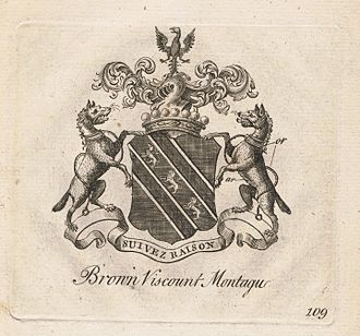 Viscount Montagu - Coat of arms of the Browne, Viscounts Montagu.