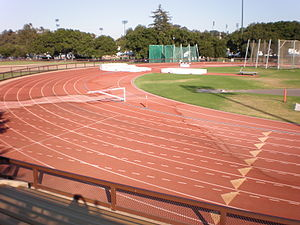 The lanes of Cobb Track & Angell Field on the ...
