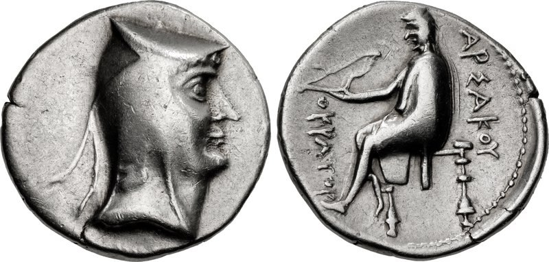 Coin of Arsaces I (1), Nisa mint