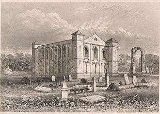 Coldingham Priory - Coldingham Priory c1850