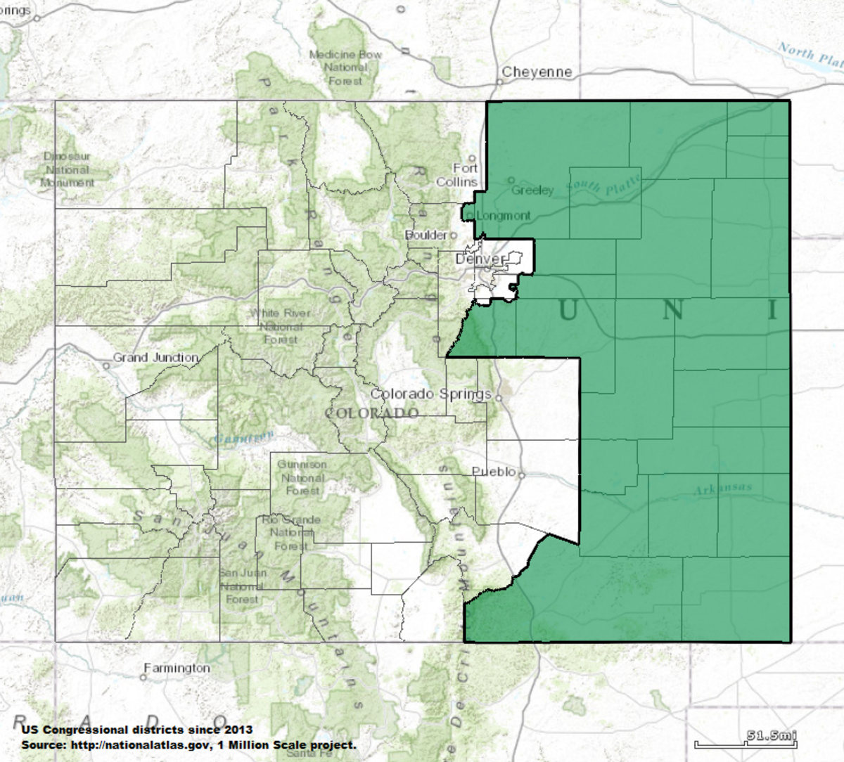 Colorados Th Congressional District Wikipedia - Colorado in the us map