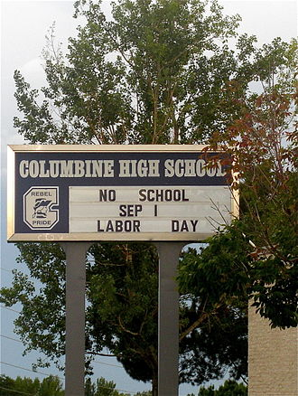 Columbine High School - Image: Columbine High School sign