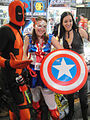 Comic-Con 2010 - Deadpool, Captain America (girl), and X-23 costumes (4878076995).jpg