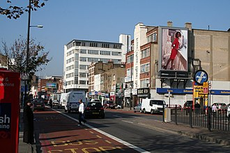 Shadwell - Image: Commercial Road, looking west geograph.org.uk 593736